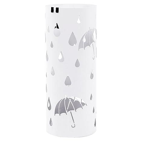 SONGMICS Paragüero Soporte de ParagÜas umbrella stand perchero (49 x Ø19.5 cm) Blanco LUC23W