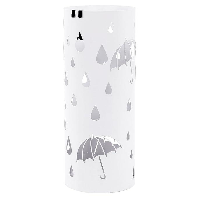 Songmics Paragüero Soporte de Paragüas umbrella stand perchero (49 x Ø19.5 cm) Blanco LUC23W: Amazon.es: Hogar