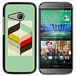 Be Good Phone Accessory // Dura Cáscara cubierta Protectora Caso Carcasa Funda de Protección para HTC ONE MINI 2 / M8 MINI // Rye Minimalist Pattern Handlebar