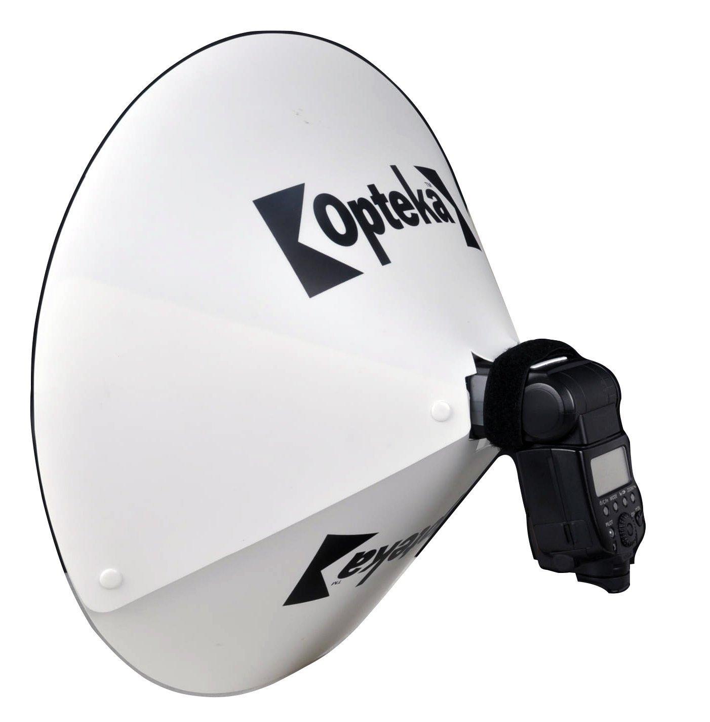 Opteka bd-10 Studio 23-inch DSLRデジタルカメラDishドームフラッシュPortraitシャドウReflector Diffuser切替弁Studioライトfor Olympus FL - 600r FL - 50r fl-600 FL - 50 fl600 fl50 B00JKQYQ6E