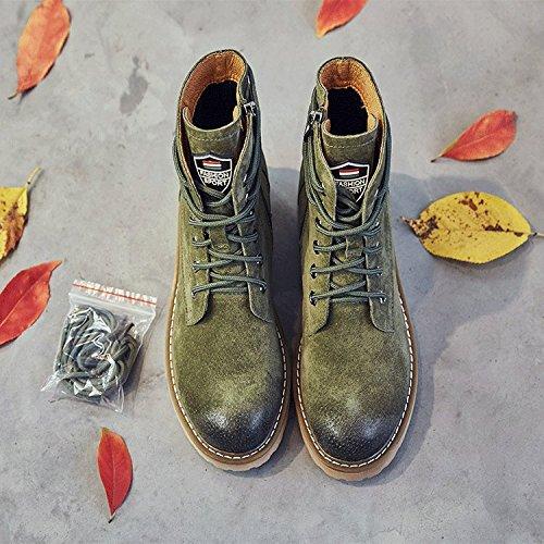 GTYMFH Schuhe Schuhe Schuhe Leder Martin Stiefel Frauen Stiefel Retro Wild Spitze Dicken Boden Studenten Stiefel 9f67d5