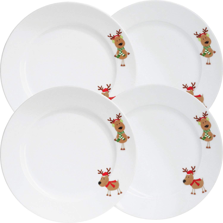 Gepolana Dessertteller 4er-PackWeihnachten Elch braun