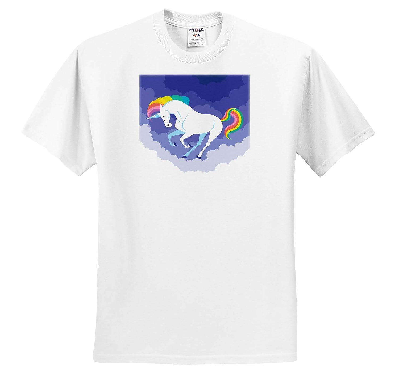 T-Shirts Illustration of Funny Unicorn Horse with Dreaming Background 3dRose Sven Herkenrath Animal