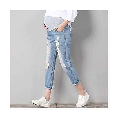 13810a6265ac8 Amazon.com: Maternity Jeans Maternity Pants Clothes for Pregnant Women  Trousers Nursing Prop Belly Leggings Jeans: Clothing