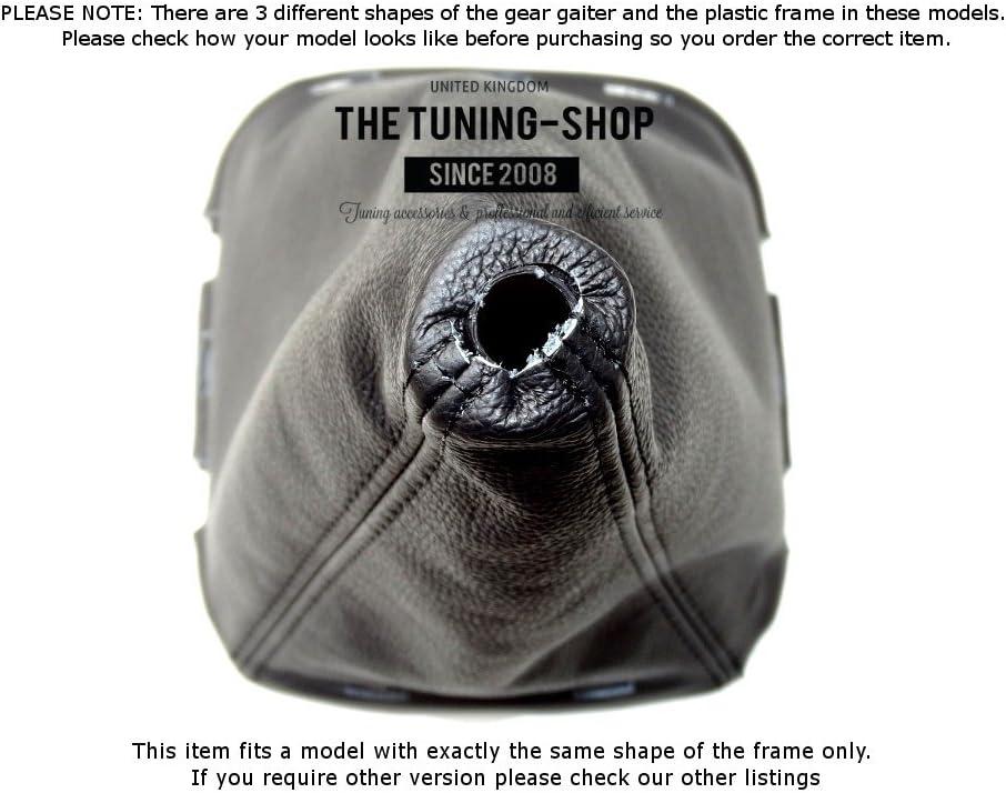 Schaltsack Schaltmanschette schwarz Leder mit Kunststoff Rahmen 180/mm