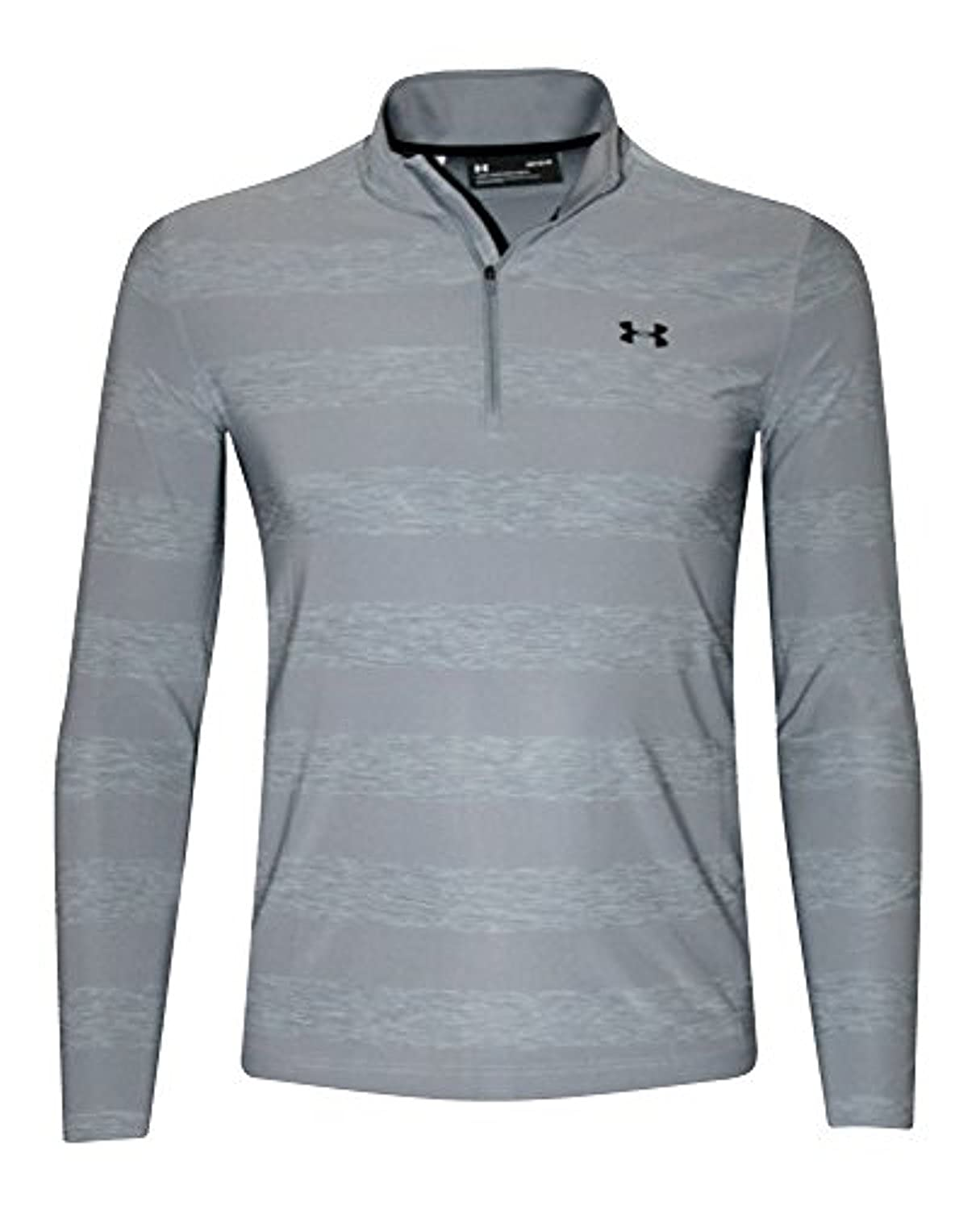 Under Armour Mens Playoff Long Sleeve Polo 14 Zip Shirt Striped