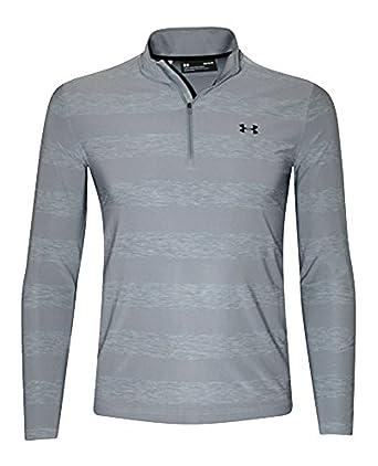 38d962cbb7 Under Armour Men's Playoff Long Sleeve Polo 1/4 Zip Shirt Striped ...