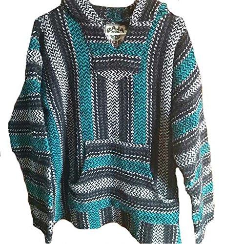 en Eco-Friendly Jacket Coat Hoodie (Turquoise, Large) (Drug Rug)
