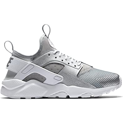 ea48ae54dd204 Nike Air Huarache Run Ultra Gs Women s Shoes in Silver Fabric 847569-012   Amazon.co.uk  Shoes   Bags