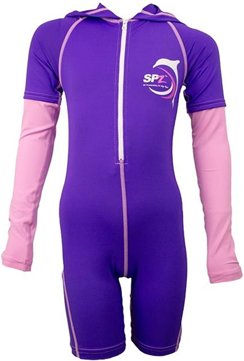 SunSkinz Kids Full Body Wetsuit UV Sun Protection Zip Long Sleeve Hooded Rash Guard