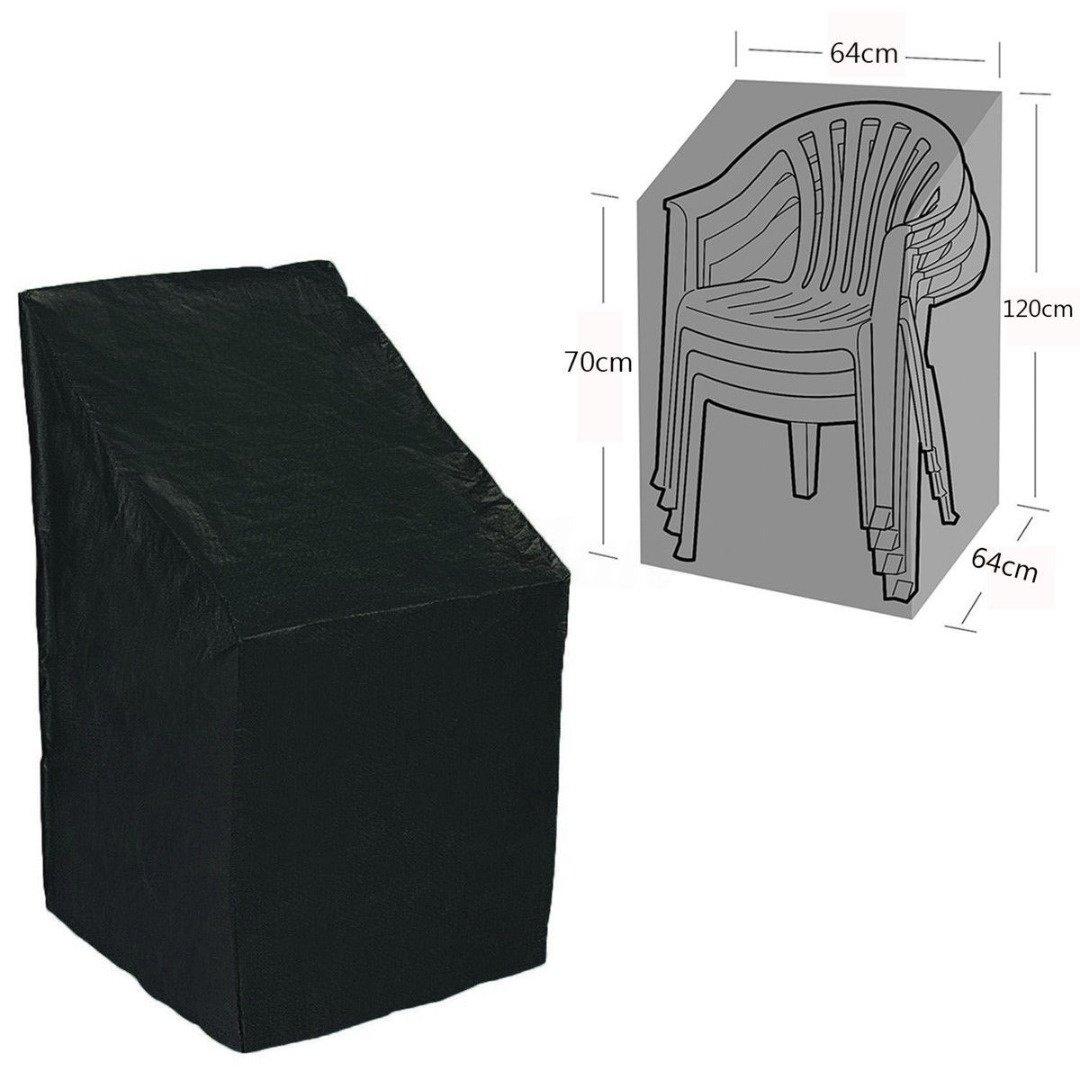 Baogu - Copertura impermeabile per sedie da giardino impilate, 25,1 x 25,1 x 47,2 1 x 25 1 x 47 2