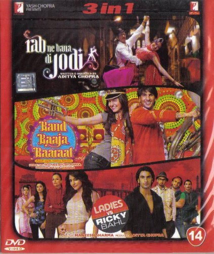 Rab Ne Bana Di Jodi / Band Baaja Baaraat / Ladies vs Ricky Bahl(3 in 1 - 100% Orginal DVD Without Subtittle)