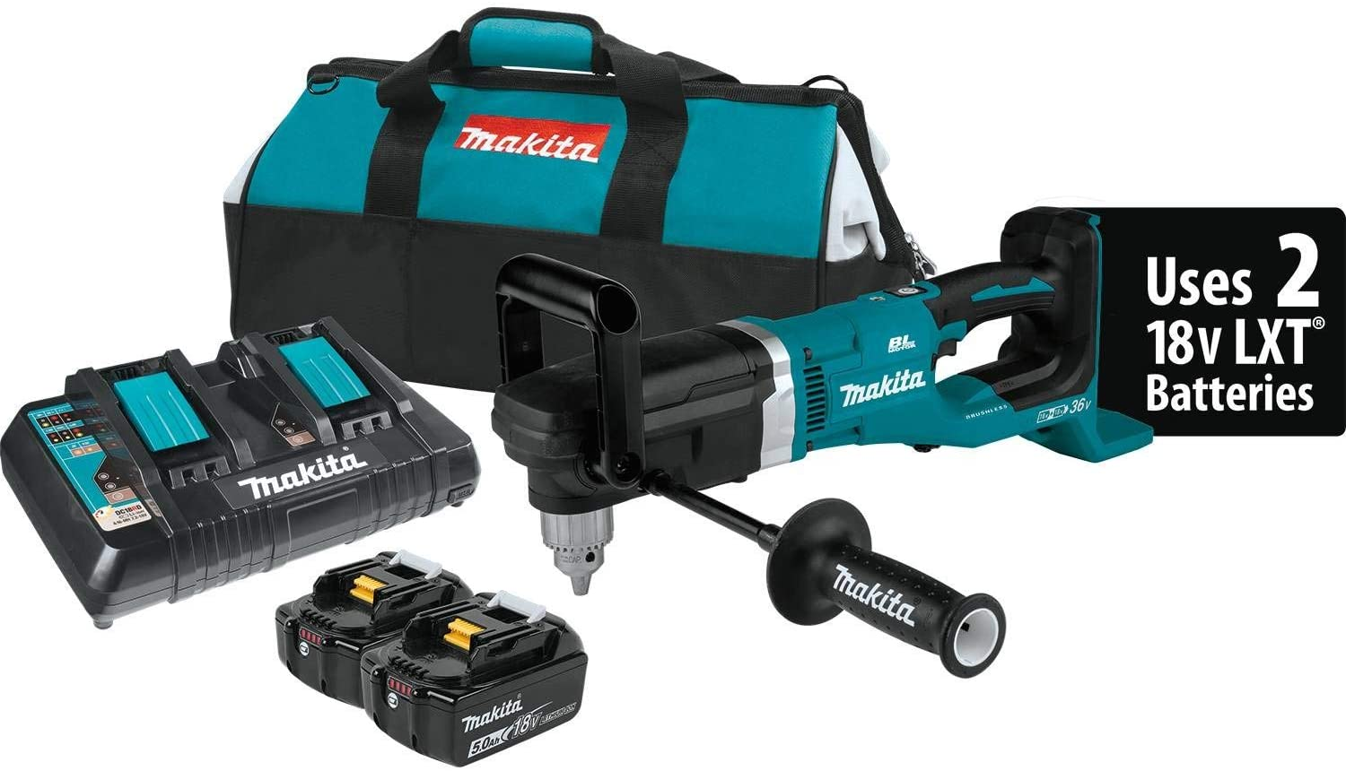 Makita XAD03PT 18V X2 LXT Lithium-Ion 36V Brushless Cordless 1 2 Right Angle Drill Kit 5.0Ah