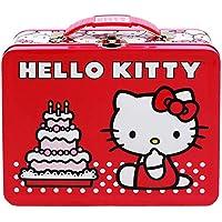 Hello Kitty Birthday Cake Embossed Metal Lunch Box