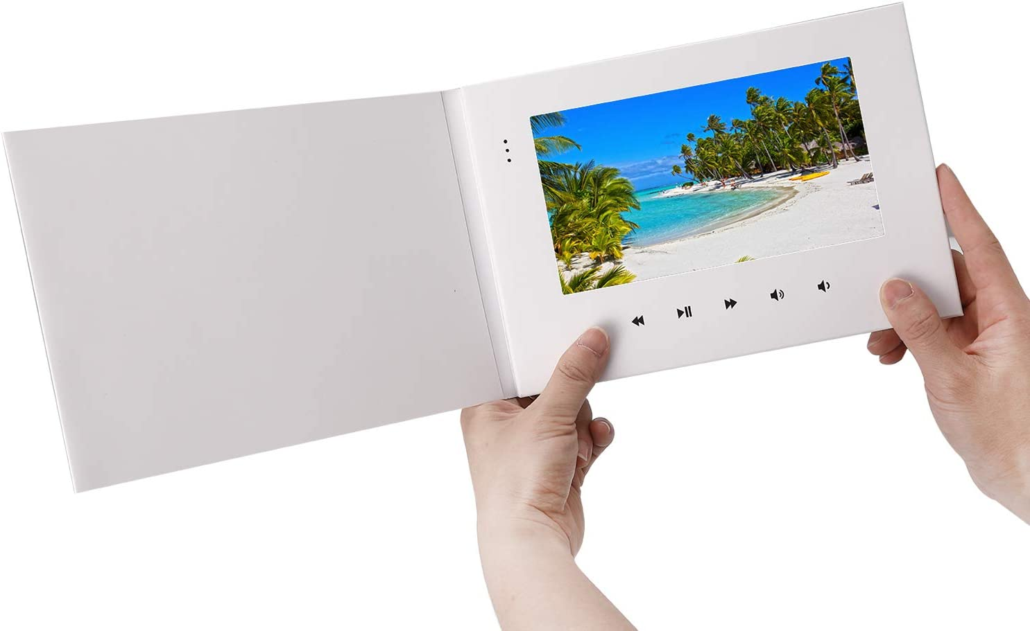 "LuguLake 7"" Video Greeting Card,Video Brochure for Father's Day, Christmas, Anniversary, Marketing Include 2G Memory and Rechargeable Battery LCD Screen Digital Brochures"