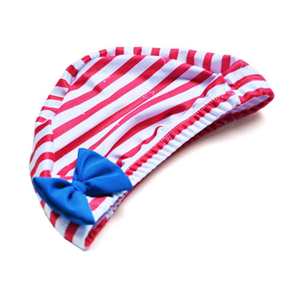 Baby One Piece Swimsuit Girl Swimwear Toddler Kid Stripe Star Rash Guard Bathing Suit with Hat 1-5t