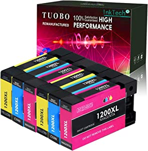 Tuobo Compatible Ink Cartridge Replacement for PGI-1200XL PGI-1200 XL 1200XL Maxify MB2320 MB2020 MB2350 MB2050 MB2120 MB2720 Inkjet Printer (2C+2M+2Y)