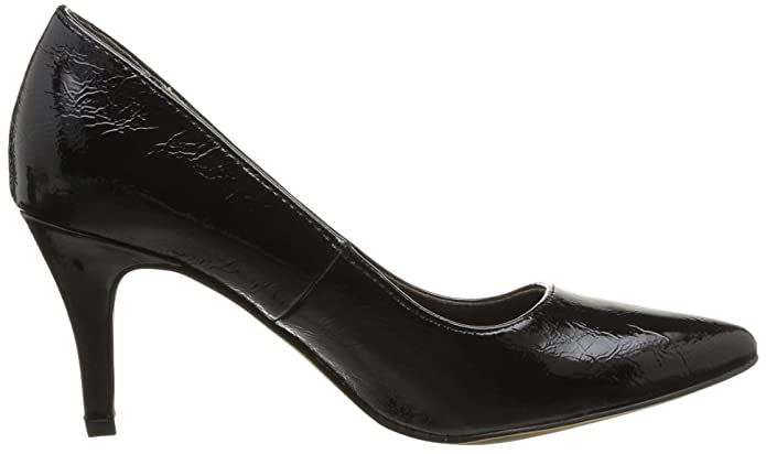 Tamaris Damen 22447 Pumps Schwarz (Black PATENT 18) 36 EU