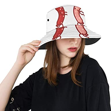 254d28e9ef7 Red Delicious Sausage Meat Fast Food New Summer Unisex Cotton Fashion  Fishing Sun Bucket Hats for