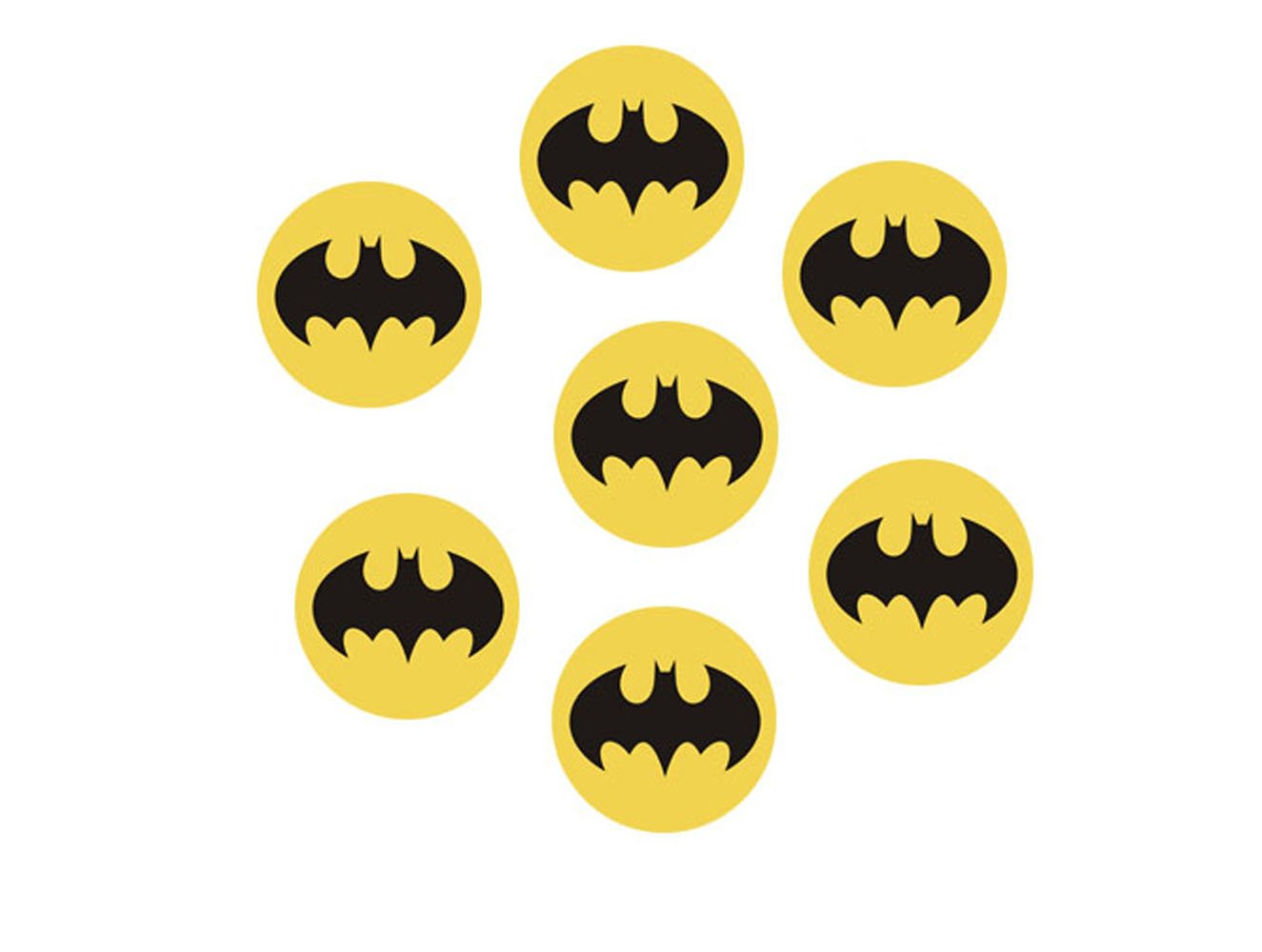 30 x batman logo cupcake toppers edible rice paper 1 5 image fd amazon co uk kitchen home