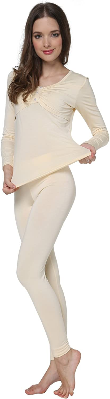 Godsen Womens Long Sleeve Pajama Set Cotton Sleepwear