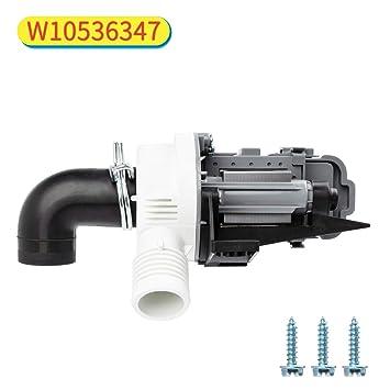 Decorlife W10536347 - Bomba de drenaje para lavadora Whirlpool ...