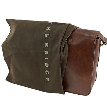 8f7509ed0aaa The Bridge Messenger Bag 05275701-14 Brown  Amazon.co.uk  Luggage