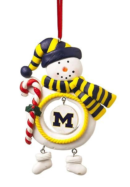 University Of Michigan Jolly Christmas Snowman Ornament - Amazon.com: University Of Michigan Jolly Christmas Snowman Ornament