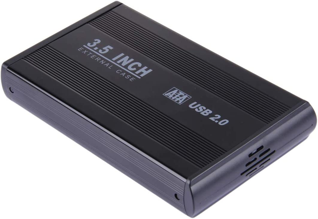 HUFAN 3.5 inch HDD SATA External Case Color : Black Hard Drive Accessorie Black Support USB 2.0