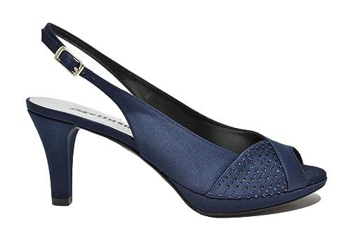 Melluso Decolte  Spuntate Sandali Blu Scarpe Donna Elegante J405 36 ... c7f18b6a18c