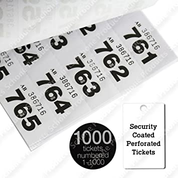 colored raffle tickets