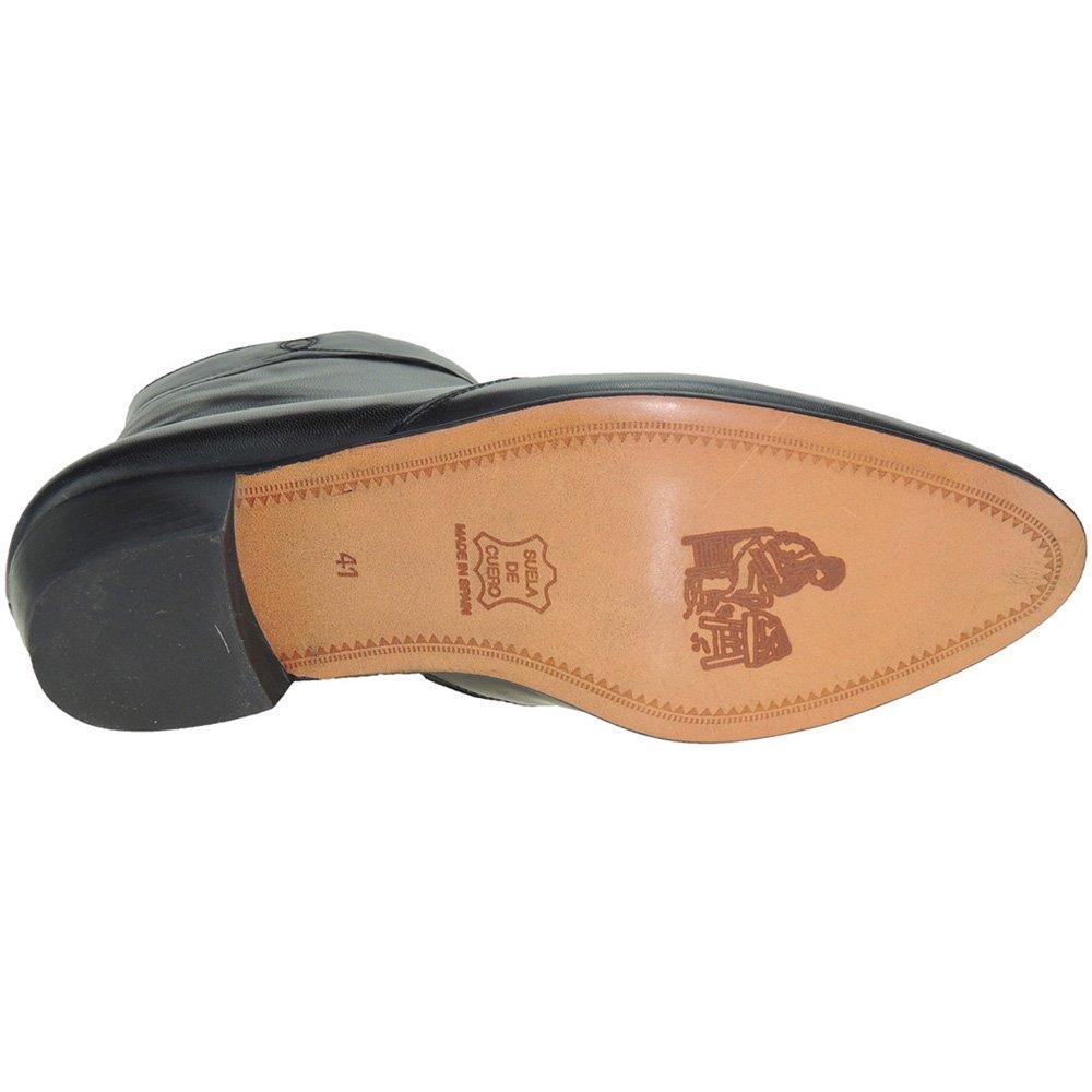 2b9f4d7ed08 Moya 50 Bota Corta de Piel Caprina Cremallera y Tacón Cubano de 4,3 CM para  Hombre: Amazon.es: Zapatos y complementos