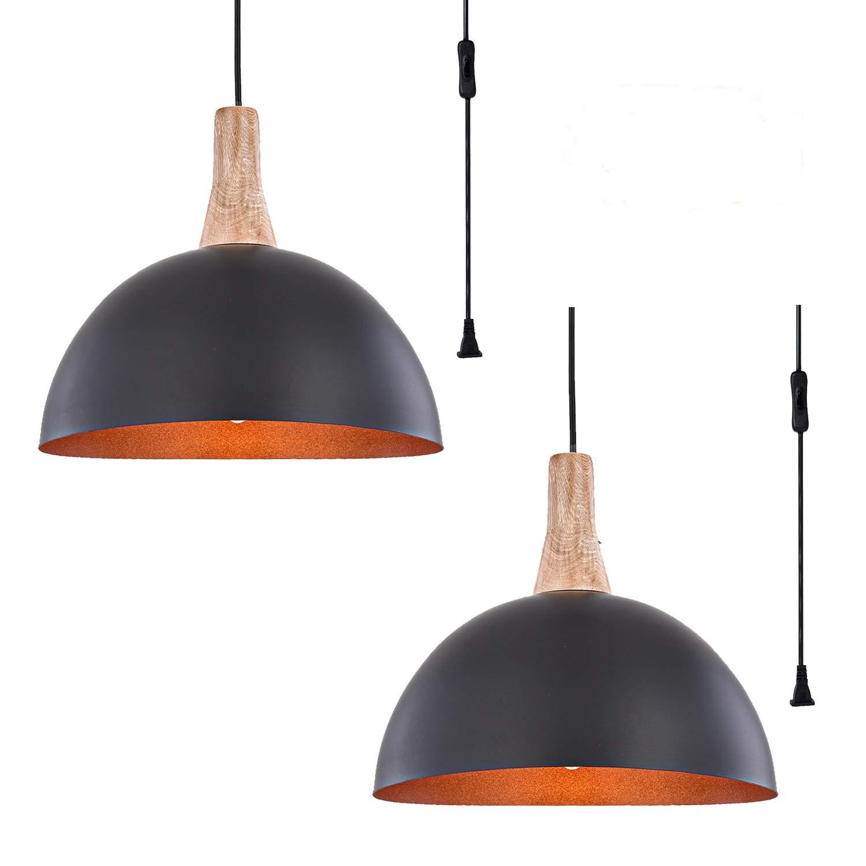 Plug in Pendant Light HOXIYA Hanging Light Fixtures PL1902