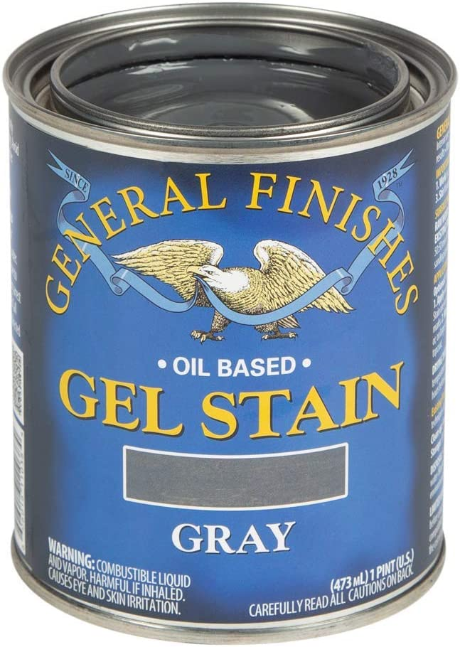 General Finishes Oil Base Gel Stain, 1 Pint, Gray