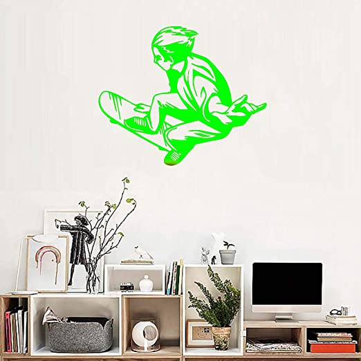 zqyjhkou Skateboard Ride Teenager Wall Sticker Vinilo ...