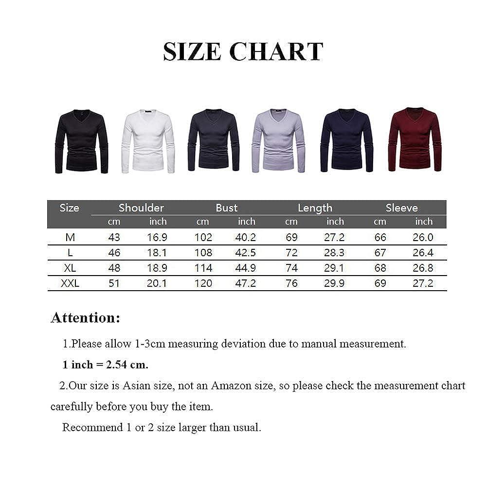 b885152eec8a0 do.Cross Mens Slim Fit Cotton Lightweight Pullover V Neck Long Sleeve Basic  T-Shirt Sweater