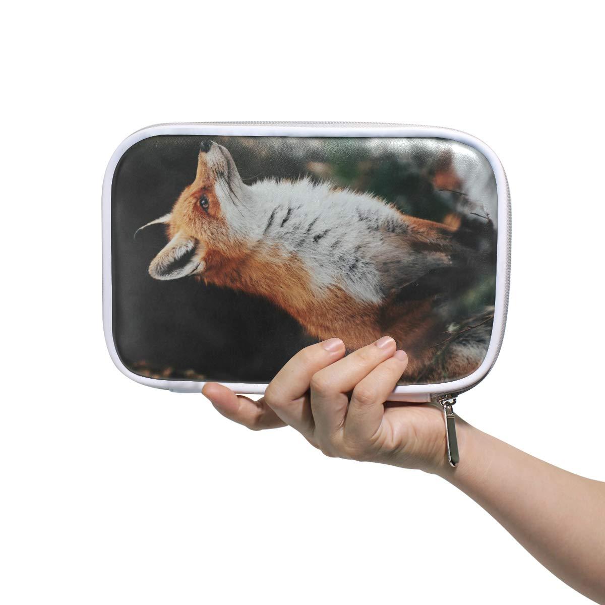 astuccio portapenne con cerniera CPYang motivo animali della foresta e volpe