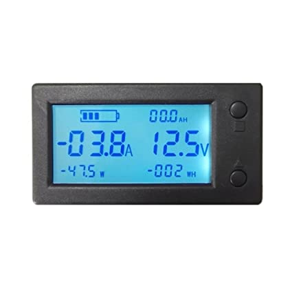 200v 50a With 50a Shunt Dc Digital Voltmeter Ammeter Led Amp Voltage Meter For 12v 24v 48v Battery Electrical Instruments Voltage Meters