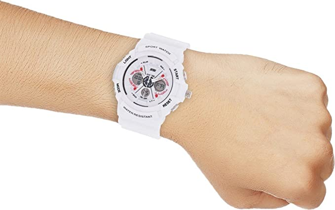 Amazon.com: Relojes de Hombre Sport LED Digital Military Water Resistant Watch Digital Men De Hombre Para Caballero RE0060: Everything Else