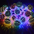 dephen Solar Outdoor String Lights LED Christmas Lights Solar Powered String Lights for Garden Yard Patio Party Home Decoration