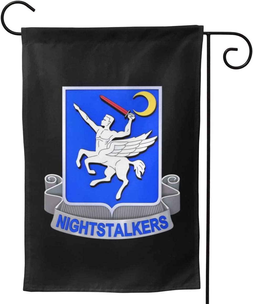 Garden Flag Double Sided28 x40 Polyester Seasonal Flags Army Night Stalkers Logo for Outdoor Home Yard Summer Decor Garden Flag Banner Decorative Double Sided Yard Flag