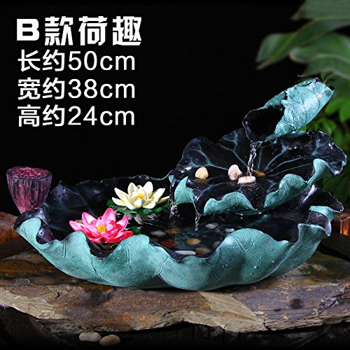 Lotus water fountain decoration wind turbine into the fishponds home decoration lucky living room bedroom study the Office desk collection