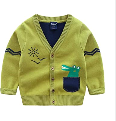 Pluszing Boys Fashion Thicken Knit Coat Cute Sweater Cardigans