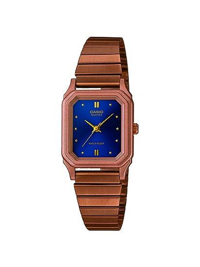 Casio Reloj analogico para Mujer de Cuarzo con Correa en Acero Inoxidable LQ-400R-2AEF: Amazon.es: Relojes