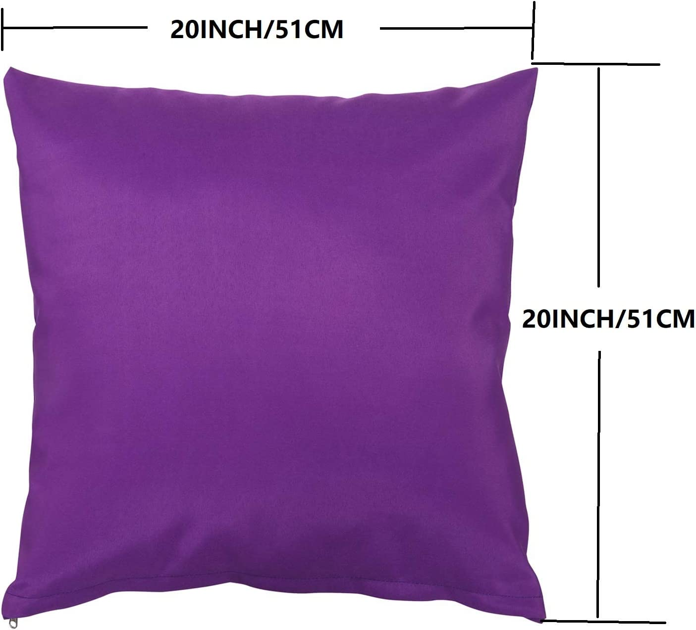 PROHIKER Set of 2 Decorative Sqaure Polyester Throw Pillow for Patio Conversation Sofa Set, 20X20IN Purple: Home & Kitchen