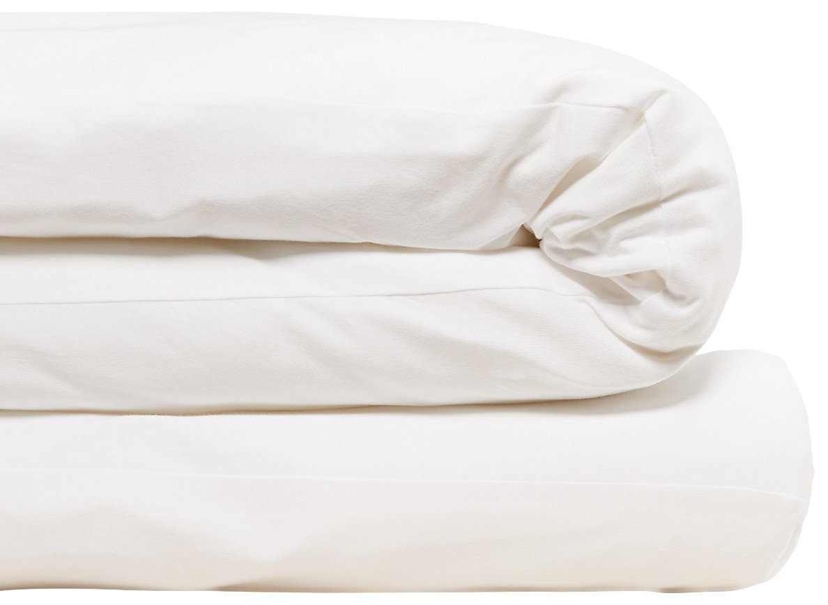 Calvin Klein Home Modern Cotton Body Duvet Cover, Twin, White
