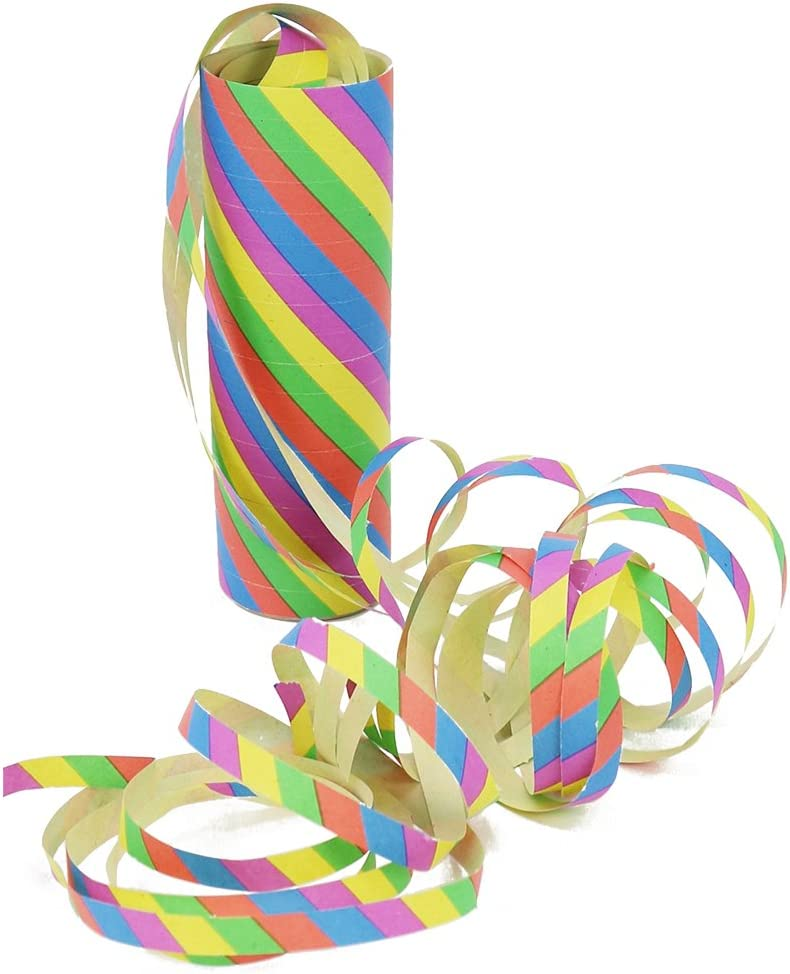 Party Streamers for New Years Eve 20 pieces - pattern mix Hanging Decoration Multi-Colored Paper Streamers for Birthdays com-four/® 20x Streamer Rolls for Party Decoration