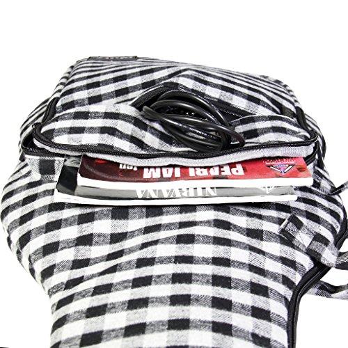 Full-Size Electric Guitar Case Buffalo Check Lumberjack Gray Black by Phitz