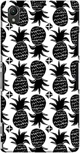 DailyObjects Black Pineapples And Triangles Case For Sony Xperia Z1