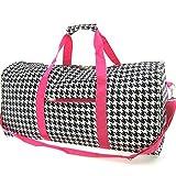 Cheap World Traveler Pink Houndstooth Gym Duffle Bag 21-inch